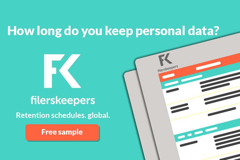 GPDR personal data retention